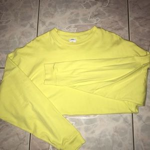 Oversize Bright Yellow Long Sleeve